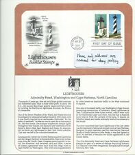 1990 US First Day Covers, 25 Cent Lighthouses Set of 3,  April 26, 1990, PCS