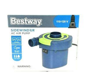 Bestway Sidewinder AC Air Pump Electric 3 Valve Adaptors Inflates & Deflates NEW