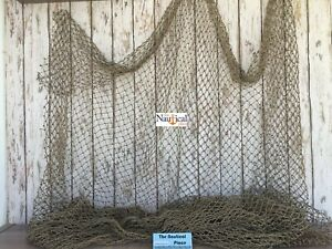 Authentic Used Fish Netting ~ 10' x 10' ~ Golf Ball Net, Batting Cage Backstop