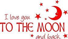 San VALENTINO AMORE A sulla Luna Adesivo Decalcomania Muri, Laptop Targa 30 cm fai da te