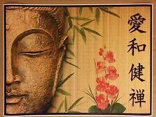 "Buddha Bamboo Flowers 24"" x 32"" Poster Print Nirvana Zen Peace Valentines Gift"