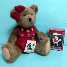 """Boyds Bears & Friends """"Gwen Marie Bear"""" w/ tag and Halllmark Keepsake Ornament"""