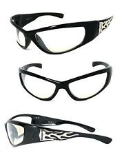 b83eeacc49 Choppers Mens Riding Biker Motorcycle Clear Lens Glasses Sunglasses UV400