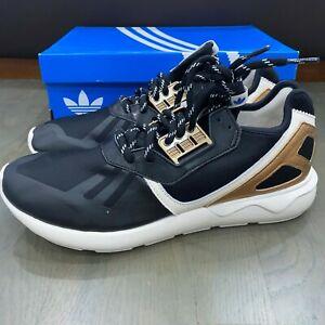 Adidas Tubular Runner Black Gold White B35639 Men's Size 11 New