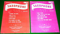 SAXOPHONE Sheet Music Lot 2 Solo Sax LEARNIN THE BLUES, Siamese Cat, MAGIC TOUCH