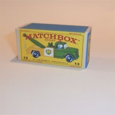 Matchbox Lesney 13 d Dodge Wreck Tow Truck empty Repro E style Reverse Color Box