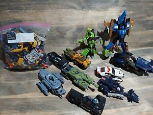 Transformers HUGE Mega Lot of Vehicles, Planes, Trucks, Parts and more 6 pounds.