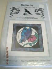 BUTTERFLY Stained Glass Pattern Ravenwood Designs Reverse Applique Pattern Canad