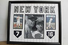 Mickey Mantle, Whitney Ford NY Yankees Signed Autographed framed 5x7 Certified