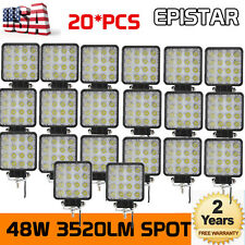 20X 48W 12V 24V LED Work Light Spot Light OffRoad ATV SUV Boat Jeep Truck 6000K