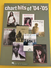 Chart Hits of '04-'05, Songbook, PVG
