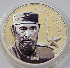 Mongolia, 1000 togrog 2017, Fidel CASTRO Proof Silver Coin, Box, COA, 1 Oz Ag
