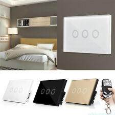 1 2 3 Gang Smart WiFi US EU UK Plug Crystal Glass Panel Touch Switch Wall Light