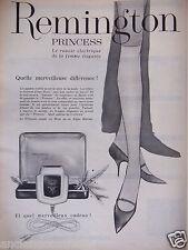 PUBLICITÉ 1958 REMINGTON PRINCESS LE RASOIR ÉLECTRIQUE POUR FEMME - ADVERTISING
