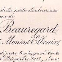 Marie De Monès D'Elbouïx Bertrand Labrousse De Beauregard Badefols-d'Ans 1913