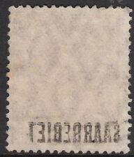 SAAR: 1920 SAARGEBIET overprints 10pf bt-carmine 'offset overprint' SG 34 used