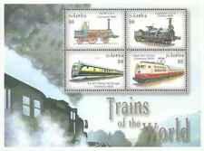 Timbres Trains Gambie 3679AK/AN ** année 2001 lot 24138 - cote : 12 €
