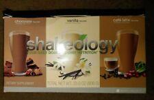 Shakeology Large Box Chocolate Vanilla Cafe Latte 26 Pack EXPIRED 2/2018 Dietary