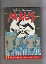 Maus Volume #2 - Art Spiegelman A Survivor's Tale Hardcover -1986 (Grade VF) WH