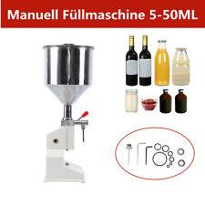 More details for 5-50ml manual paste liquid cream oil filling machine filler for shampoo cosmetic