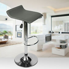 Modern Set of 4 Swivel Bar Stool Adjustable PU Leather Chrome Countertop Chair
