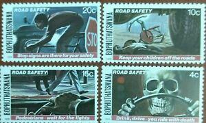 121.BOPHUTHATSWANA 1978 SET/4 STAMP ROAD SAFETY . MNH