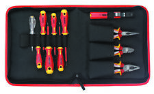 Felo Insulated VDE Plier Screwdriver Set 11pc Electrician Electrical Linesman