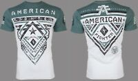 AMERICAN FIGHTER Mens T-Shirt CROSSROADS Athletic BLACK GREEN EYE Biker $40
