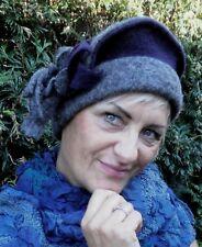 Cappello da donna berretto basco MC Burn GRIGIO/Lilla IN LANA PER EVENTO