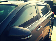 Dodge Ram Quad Cab 2002 - 2008 Tape-on Wind Deflectors Vent Visor Shade Guard