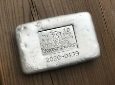 2020 Beaver Bullion 10oz .999 Fine Silver Poured Bar - Random Serial