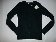 CLOVER by BOBBY JONES Golf Navy Cable Knit CARDIGAN SWEATER Womens MEDIUM  NEW