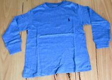 Ralph Lauren Boys Long Sleeve T Shirt-  BLUE - SIZES- 3,4,5,10-12 & 18 -20- NEW
