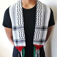 New Palestine Neck Scarf / Shemagh / Keffiyeh / Palestine Flag Colors