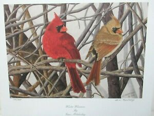 """GENE MLEKODAY """"WINTER WARRIOR'S"""" LIMITED EDITION HAND SIGNED LITHOGRAPH"""