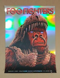 Foo Fighters St. Louis Poster 2021 Foil Variant Neal Williams AP Signed #/30