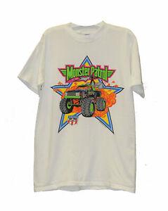Vintage Monster Patrol USHRA Monster Truck White T-Shirt  - Brand New