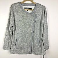 NWT BNCI Sweatshirt Jacket Women Size L Fleece Lined