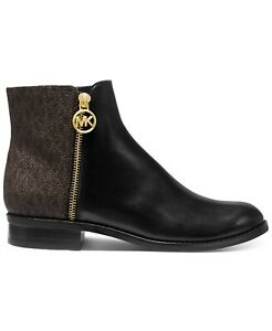 Michael Michael Kors Womens Lainey Flat Bootie, Black/Brown,  Size Toddler 5.0
