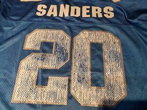 Vtg Logo 7 Athletic XL DETROIT LIONS #20 Barry Sanders Football Jersey EUC NFL