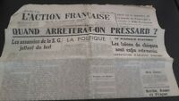 Journal Nationalist L Action Figure French 3 Mars 1934 N° 62 ABE