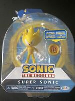 "Sonic the Hedgehog Super Sonic with Super Ring 4"" Action Figure Articulated"