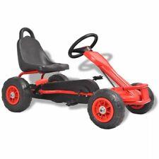 vidaXL Kart à Pédales avec Pneus Rouge avec Frein à Main pour Enfants Voiture