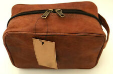 Leather Toiletry Bag compact Leather Dopp Kit for Travel Small