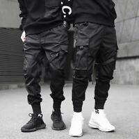 Pantalon homme rubans streetwear joggers cargo harem hip hop Harajuku Fashion