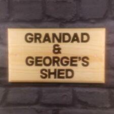 Large Personalised Shed Plaque / Sign - Black Text Dad Grandad Garden Workshop