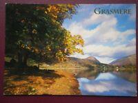 POSTCARD CUMBRIA GRASMERE  - VIEW ALONG THE LAKE