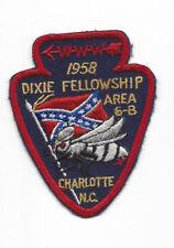 OA 1958 Dixie Fellowship Patch Host 459 Catawba Camp Steere [LMT886]
