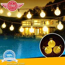 20ft 30LED Solar Powered String Lights Globe Fairy Lighting Decor Bulbs Outdoor