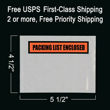100 Packing List Envelopes 4 12 X 5 12 Enclosed Self Adhesive Pouch Box Slips